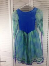 Girls Fairy/Princess Dress in Blues Leotard Attached Size 5/7 Halloween Costume