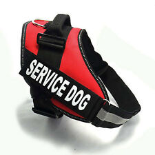 Service Dog Vest Harness with 2 Reflective MATCHING Removable Patches XS - XXL