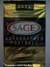 2002 AUTOGRAPHED SAGE FOOTBALL FACTORY SEALED PACK  !!