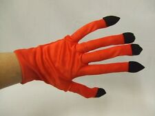 Devil Gloves with nails  ~ Witch ~ Space ~ Sci fi ~ Insect ~  Red Gloves ~