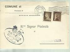 COMUNE DI  COMO  PODESTA' CARTOLINA SPEDITA 1935