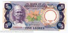 SIERRA LEONE 5 LEONE P-12 1980 Commemorative UNC SCARCE AFRICA MONEY BANK NOTE