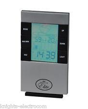 ELITE WEATHER STATION CLOCK - temperature & humidity