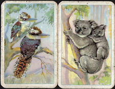 Kookaburra Bird/ Koala Baby Bear Aussie Animal SINGLE Swap Playing Cards NO DECK