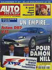 AUTO HEBDO n°1064 du 11 Décembre 1996 ASTON MARTIN DB7 DOSSSIER TWR BILAN ENDURA