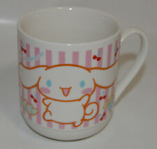Sanrio Cinnamoroll Vintage Mug Cherries Pink With A Smile And A Wagging Tail