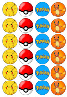 Pokemon Edible Image Cupcake Toppers 24 x 4cm #32