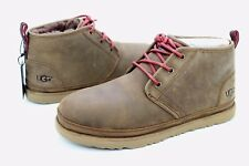 UGG For Men Boots Neumel Waterproof Leather / Wool  Grizzly Brown US Size 6