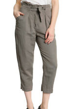 Vanessa Bruno Athé Casual Cropped Tie-Waist Green Trousers - FR 38 UK 10