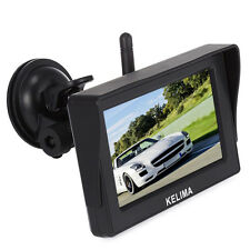 """Wireless IR Night Vision Rear View Backup Cam +4.3"""" Monitor for Rv Truck Trailer"""