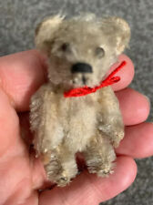 Very RARE Early Antique Tiny Once White Miniature Piccolo Schuco Bear Bit Worn !