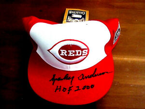SPARKY ANDERSON HOF 2000 1976 WSC REDS MANAGER SIGNED AUTO CAP HAT JSA AUTHENTIC