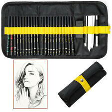 29pcs Professional Artist Charcoal Sketch Drawing Pencils Set Art Kit Supplies