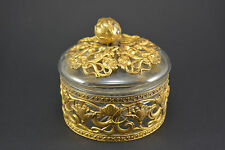 Bonbonniere art nouveau, cristal et metal dorée (Majorelle Galle)