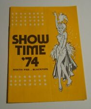 Show Time '74, North Pier Blackpool, entertainment programme.