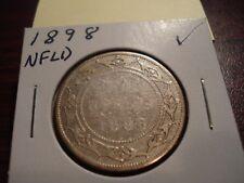 1898 - NFLD - Canada - Silver 50 cents - half dollar -