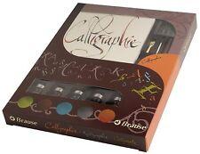 J.Herbin Kalligraphie-Set Geschenkebox mit Federhalter Federn Tintenflakons 149B