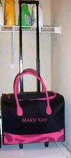 MARY KAY Rolling Organizer Case Consultant Luggage Bag PINK and Black