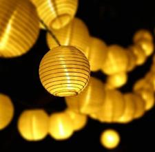 Solar Lantern String Lights 30 Led Waterproof