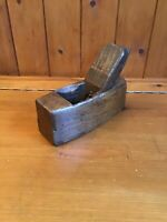 Vintage Carpenters Small Wooden Wood Block Plane Bench Plane - Lovely Patina
