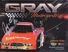 "2013 Johnny Gray signed Pitch Energy ""2nd issued"" Dodge Charger Fc Nhra postcard"
