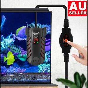 LED Digital Aquarium Fish Tank Water Heater Rod Aqua Submersible Marine 25W-200W