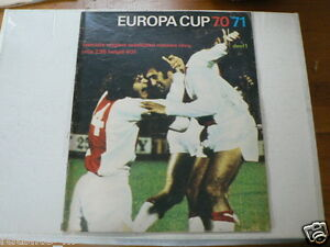 1970-71 PART 1 EUROPA CUP VOETBAL,SOCCER,FOOTBALL,FC BASEL,ATLETICO MADRID,AJAX
