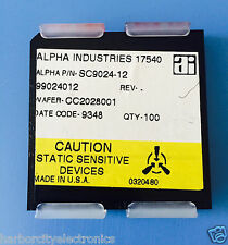 SC9024-12 ALPHA INDUSTRIES CAPACITOR CHIP RF MICROWAVE PRODUCT 100/units total