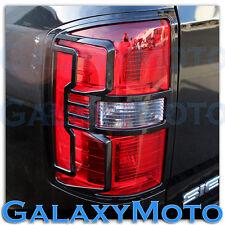14-16 GMC Sierra 1500 Truck Gloss Black Taillight Tail Light Trim Bezel Cover