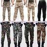 Men's Combat Army Paratrooper Pants Outdoor Work Game Camp Camo Cargo BDU Pants