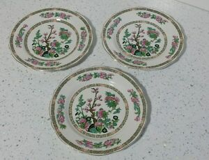 3 LORD NELSON WARE SIDE / SALAD  PLATES IN INDIAN TREE DESIGN