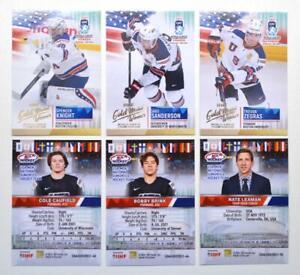 2021 BY cards IIHF U20 World Championship Team USA PREMIUM Pick a Player Card