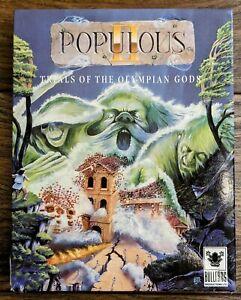 Populous II Trials Of The Olympian Gods Amiga Big Box Rare Bullfrog