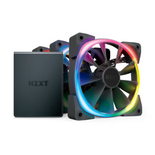 NZXT AER RGB 2 Starter Kit 120MM CASE Triple RGB Fans HUE Controller Powered CAM