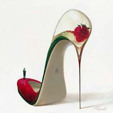 Inna Panasenko: Frizzante High Heels Fertig-Bild 50x50 Wandbild Schuh Kult