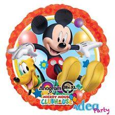 PALLONCINO MYLAR TOPOLINO e PLUTO tondo 45 cm  Addobbi Festa Disney compleanno