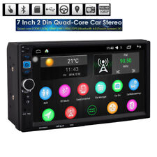 "7"" Android Quad Core WIFI Double 2DIN Car Radio Stereo MP5 Player Sat GPS -ES"
