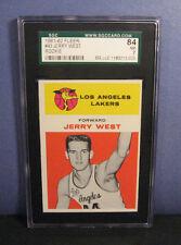 Jerry West SGC 7 84 1961 Fleer #43 Rookie RC Card (NM) Los Angeles Lakers