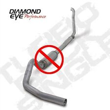 "Diamond Eye 4"" SS Turbo Back Single No Muffler 94-97 Ford F250 F350 Powerstroke"