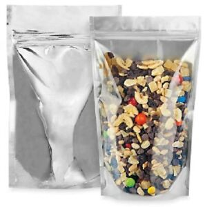 Glossy Stand Up Barrier Plastic Pouch Bags - 5 Mil - Various Sizes - FDA+USDA