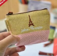 New Women's mini Canvas wallets Stitching coin purses key cases Girl Clutch bag