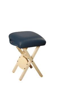Master Massage Wooden Handy Folding portable adjustable stool chair