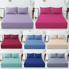 """EXTRA DEEP 16""""/40 cm FITTED BED SHEETS Percale Single Double Super King Size"""