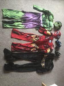 Avengers Marvel Boys Kids Costumes Dress Up Hulk Iron Man Batman Ages 5-8