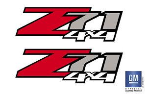 2007-2013 Chevy Silverado GMC Sierra Z71 4X4 Bed Decal Stickers Set of (2)
