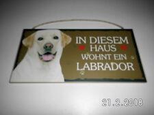 Türschild Labrador weiß, Tierschild Hund aus Holz, Holzschild, Wandschild