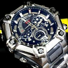 Invicta Shaq Bolt 1.4CTW Diamond Steel Swiss Mvt Chrono Black Watch 60mm New