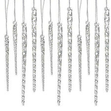 Christmas Tree Glass Ornaments Icicle Adorns 96 Crystal Clear Ice Wedding Decor