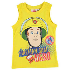 FIREMAN SAM Tank Top Yellow size 2-3 bnwt GENUINE LICENSED ITEM FROM THE UK!