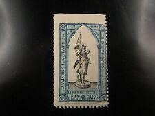 poster stamp cinderella vignette reklamemarken 1905 jeanne d arc orleans expo b